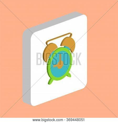 Alarm Clock Simple Vector Icon. Illustration Symbol Design Template For Web Mobile Ui Element. Perfe
