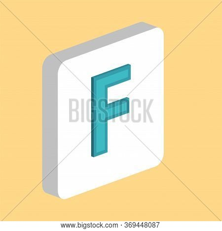 Letter F Simple Vector Icon. Illustration Symbol Design Template For Web Mobile Ui Element. Perfect