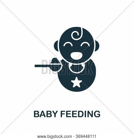 Baby Feeding Icon. Monochrome Simple Baby Feeding Icon For Templates, Web Design And Infographics