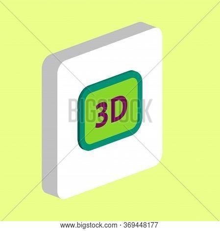 Three Dimensional, 3d Simple Vector Icon. Illustration Symbol Design Template For Web Mobile Ui Elem