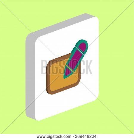 Registration Simple Vector Icon. Illustration Symbol Design Template For Web Mobile Ui Element. Perf