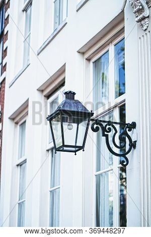 Architectural Detail Of A Building On The Main City Center Street Of Amsterdam In Netherlands, Europ