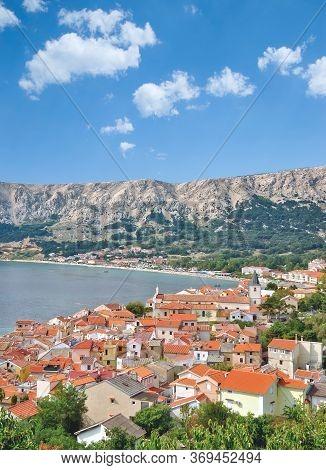 Village Of Baska On Krk At Adriatic Sea,croatia