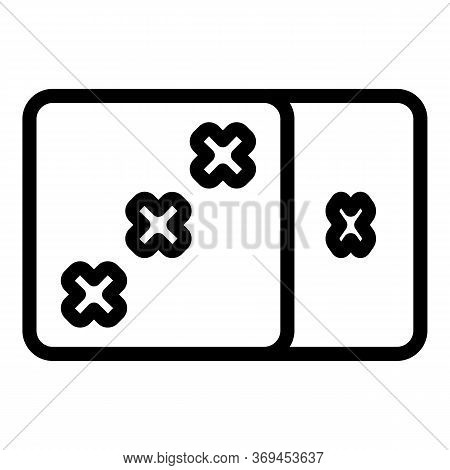 Lucky Casino Dice Icon. Outline Lucky Casino Dice Vector Icon For Web Design Isolated On White Backg