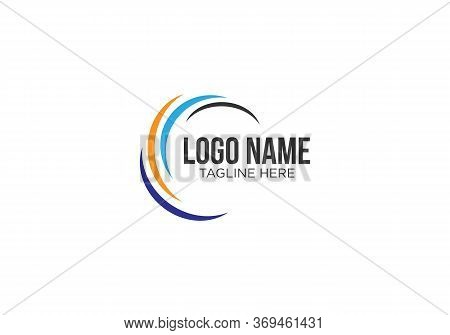 Spiral Design Logo. Round Logo Design. Creative Logo. Web Logo. Colorful Logo. Vector Abstract Circl