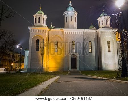 Church Of The Ascension (vaznesenjska Crkva) Is Serbian Orthodox Church In Belgrade Downtown Dedicat