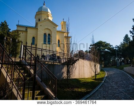 Belgrade / Serbia - February 9, 2020: Small Church Of Saint Dimitrios Or Saint Dimitri (crkva Svetog