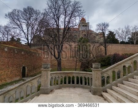 Belgrade / Serbia - February 7, 2020: Building Of Military Museum Located On First Bastion Of The So