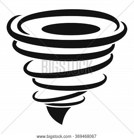 Power Tornado Icon. Simple Illustration Of Power Tornado Vector Icon For Web Design Isolated On Whit