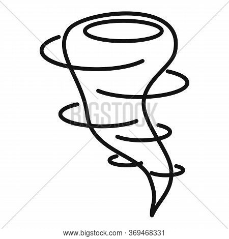 Nature Tornado Icon. Outline Nature Tornado Vector Icon For Web Design Isolated On White Background