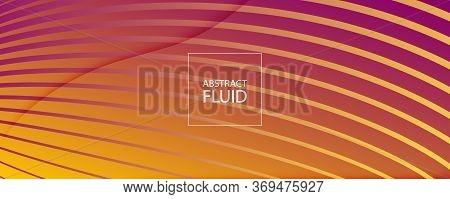 Abstract Flow Pattern. Business Dynamic Design. Fluid Line Texture. Orange Flow Pattern. Wave Memphi