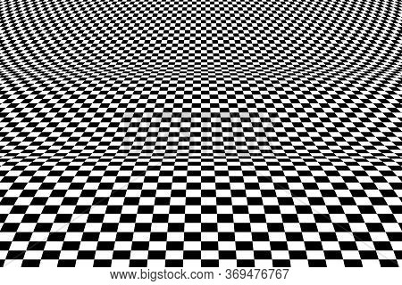 Abstract Square Op Art Pattern Decorative Design Element Of Mesh Background. Use For Show, Ad, Poste