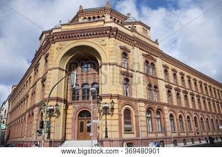 Classic Vintage Retro Antique Building Heckmann Hoefe On Tucholskystrasse For German People And Fore