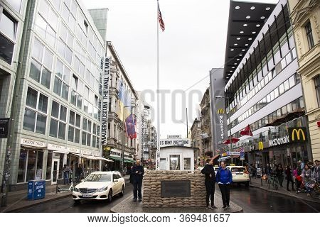 Berlin, Germany - September 17 : Checkpoint Charlie Crossing Point Between East Berlin And West Berl