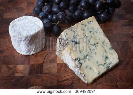 Stilton Blue Cheese, Goats Cheese With Sable Grapes