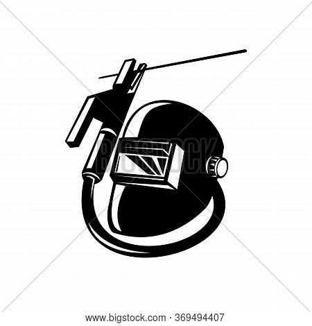 Illustration Of Arc Welding Equipment Showing Welder Rod-holder With Cable And Electrode For Electri