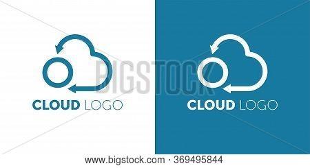 Cloud Logo. Cloud Computing Template. Creative. Internet Global. Upload. Data Transfer. Download Web