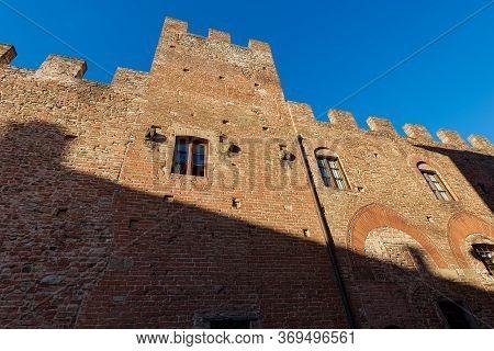 Palazzo Stiozzi Ridolfi. Medieval Palace In The Ancient Town Of Certaldo Alto. Town Where The Poet G