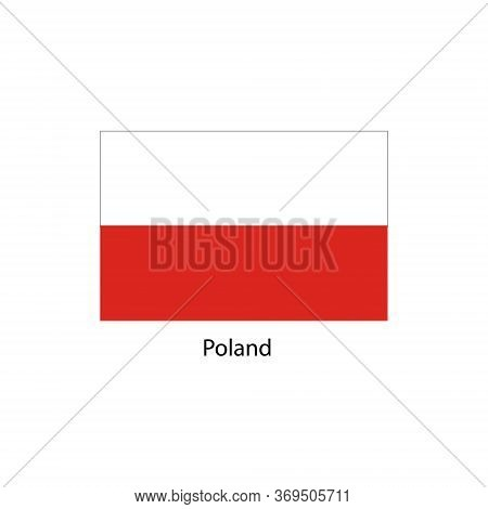 Poland Flag. Official Colors And Proportion Correctly. National Flag Of Poland. Poland Flag Vector I