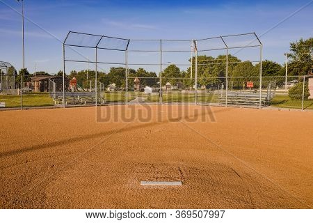 A Baseball Diamond Where Games Should Be Played But Now Only Has Practices