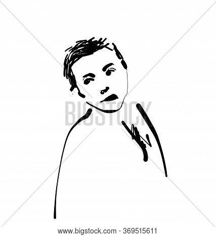 Depletion Of The Moral. Bullying Ilustration. Sketching