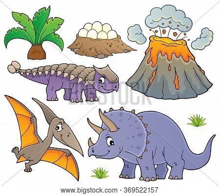 Dinosaur Topic Set 9 - Eps10 Vector Picture Illustration.