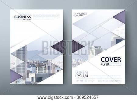 Annual Report Brochure Flyer Design Template, Leaflet Presentation, Book Cover. Layout In A4 Size. V
