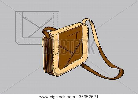 Woman's handbag with accents