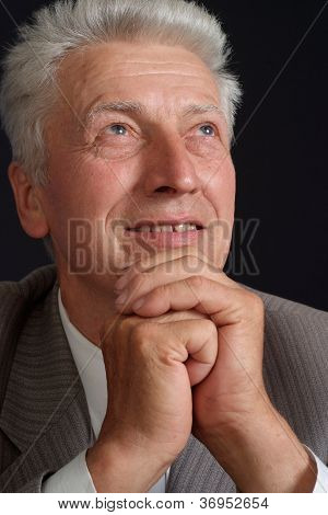Gorgeous elderly man in suit