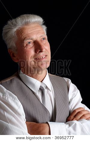 Great old man in suit