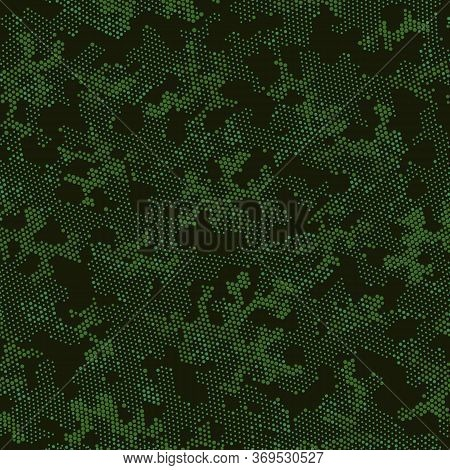 Seamless Vector Patterd Design.  Repeated Graphic Green Color, Camo Camo. Beige Seamless Doted Camou