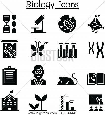 Biology Icon Set Vector Illustration Graphic Design