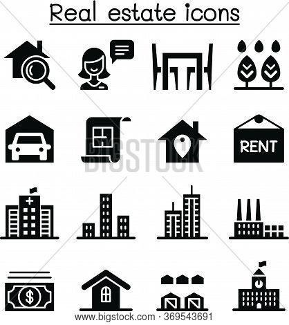 Real Estate Icon Set Vector Illustration Graphic Design