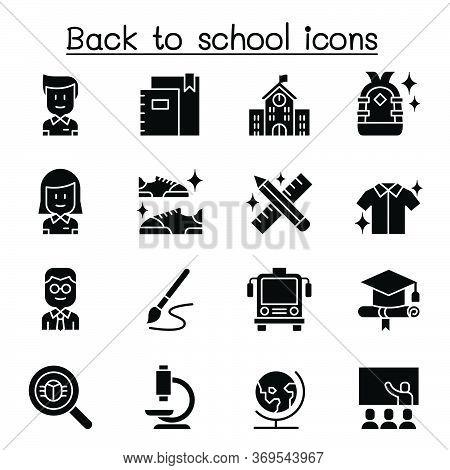 Back To School Icon Set Vector Illustration Graphic Design