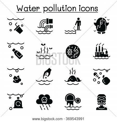 Water Pollution Icon Set Vector Illustration Graphic Design