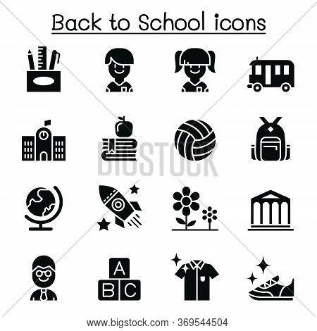 Back To School, Education, Kindergarten, Learning Icon Set