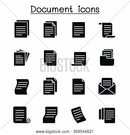 Document Icon Set Vector Illustration Graphic Design