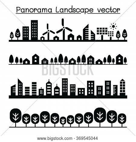 City Panorama. Urban Landscape Vector Illustration Graphic Design