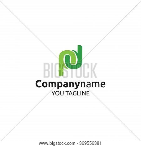 Pd Logo Letter P And B Icon Symbol Logo Minimalist, Vector