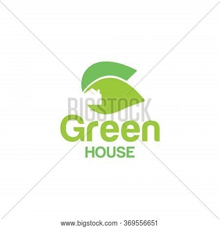 Green House Logo Simple And Natural, Vector
