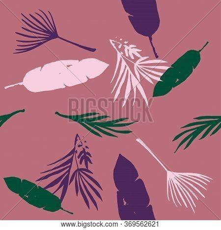 Hipster Tropical Vector Seamless Pattern. Cool Summer Fabrics. Beautiful Male Shirt Female Dress Tex