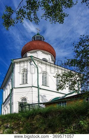 Solovki, Republic Of Karelia, Russia - August, 2017: The Church Of Ascension On Sekirnaya Hill, Solo