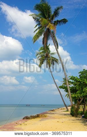 Koh Lanta, Thailand - January, 2014: Andaman Sea Beach On Ko Lanta, Thailand