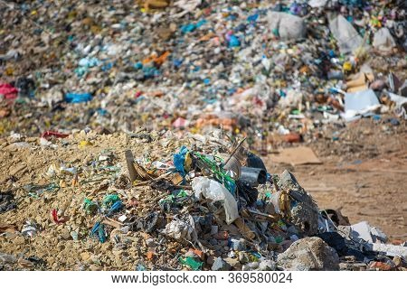 Waste Dump Concept, Pile Of The Garbage, Garbage Dump , Waste From Household In Waste Landfill, Plas