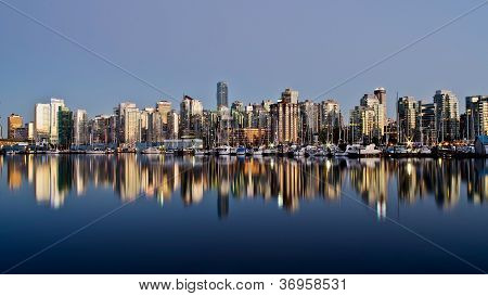The City of Vancouver at Night
