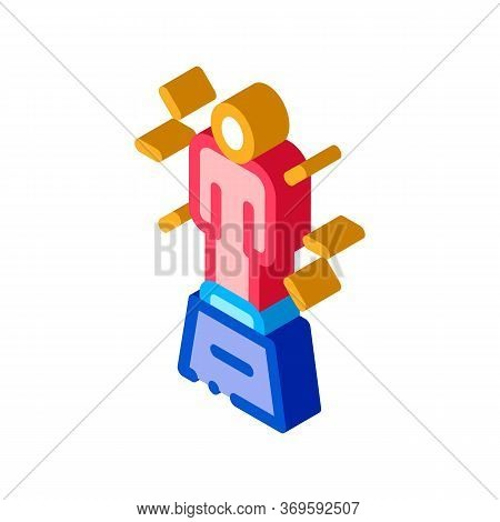 Statuette Human Talent Icon Vector Isometric Sign. Color Isolated Symbol Illustration