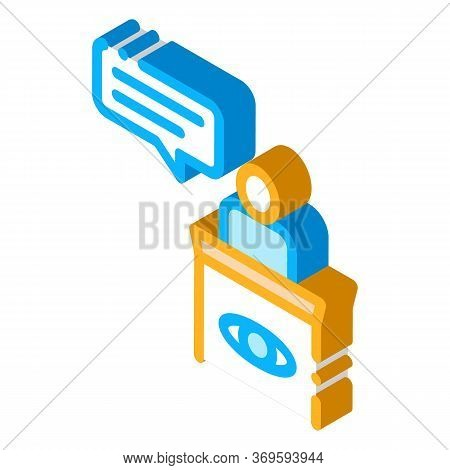 Male Witness Law And Judgement Icon Vector Isometric Sign. Color Isolated Symbol Illustration