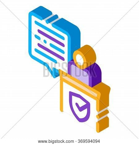 Judgement Document Law Icon Vector Isometric Sign. Color Isolated Symbol Illustration