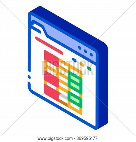 Player Table Betting And Gambling Icon Vector Isometric Sign. Color Isolated Symbol Illustration
