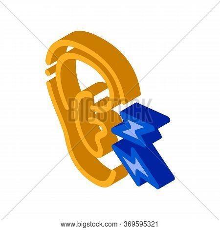 Earache Icon Vector. Isometric Earache Sign. Color Isolated Symbol Illustration